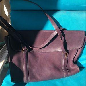 COACH large vintage oxblood-color shoulder bag